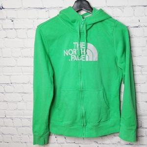 The North Face grren full zip hoodie